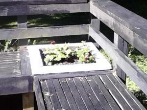 blue deck planter