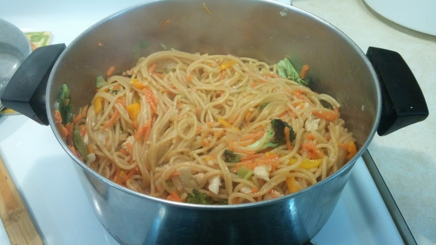 one pot lo mein finished